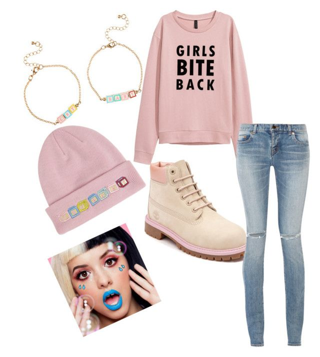"""""""Melanie🎀💙"""" by prettylittlelizzy on Polyvore featuring Timberland, Yves Saint Laurent and Lime Crime"""