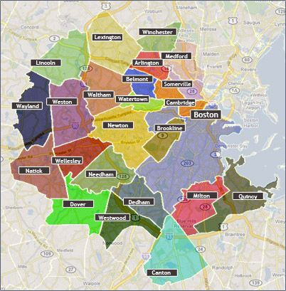 map of boston and surrounding towns Map Of Greater Boston Area Boston Map Map Boston map of boston and surrounding towns
