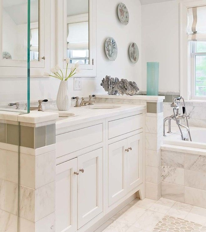 Eric Roseff Design bathrooms white walls white wall color