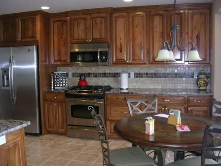 Hickory kitchen cabinets pictures knotty hickory kitchen cabinets photo by amishcabinets - Knotty hickory kitchen cabinets ...