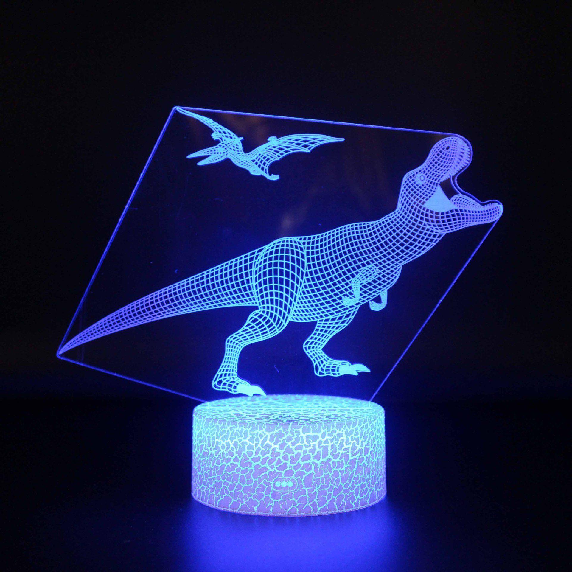 3d Nachtlicht Dinosaurier Form Lampen Optische 3d Illusion Nachtlicht Tischlampe Fur Kinder Geschenk Novelty Lamp Lava Lamp Lamp