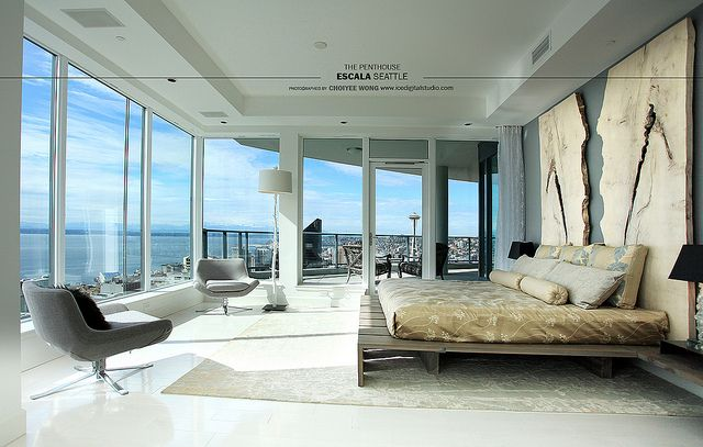 The master bedroom at escala penthouse escala building seattle washington usa