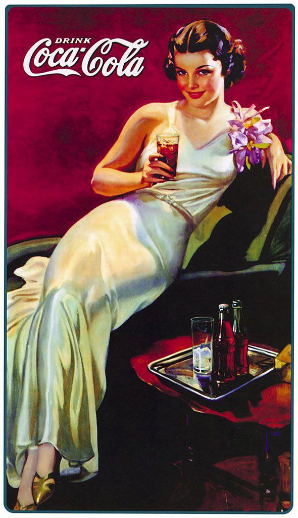 Ilustraciones Propaganda Coca Cola Antiguas