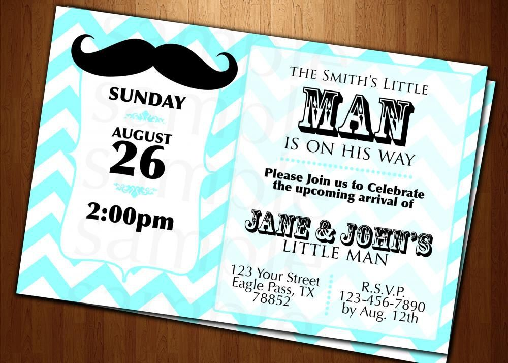 Little Man Baby Shower Invitations Templates Mustache Baby Shower Invitations Baby Shower Invitation Cards Baby Shower Invitation Templates