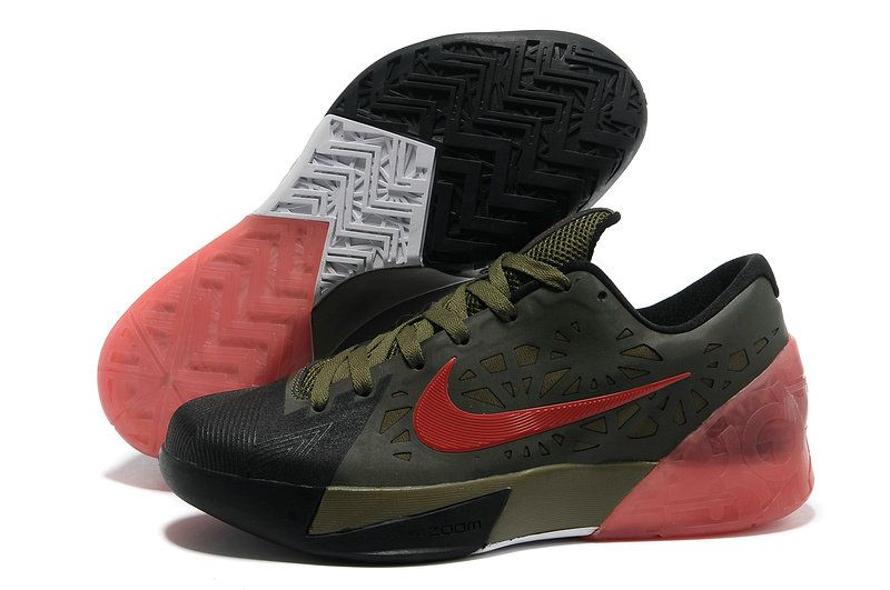 23bc708ba163 Nike KD Trey 5 2018 New Style Army Green Sport Red Pink Force ...