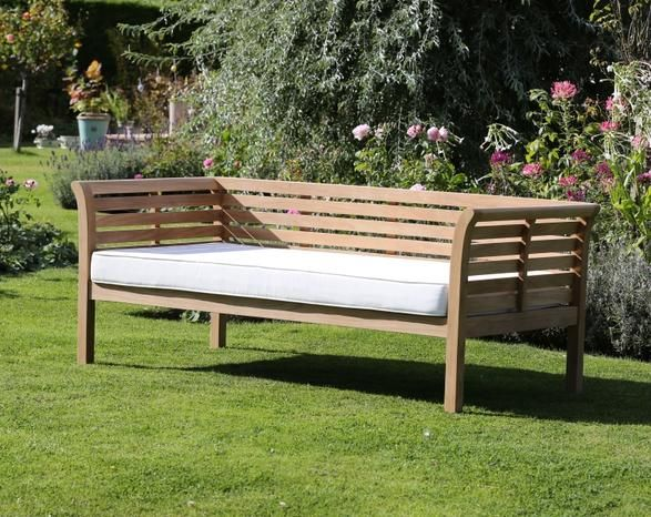 day bed 220cm with cushion garden furniture outdoor living home furnishing from jo