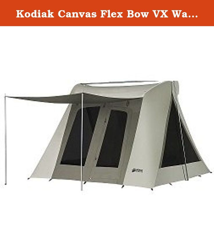 Kodiak Canvas Flex Bow VX Waterproof Quick Tent 6011 With Tarp 6013. Introducing our new  sc 1 st  Pinterest & Kodiak Canvas Flex Bow VX Waterproof Quick Tent 6011 With Tarp ...