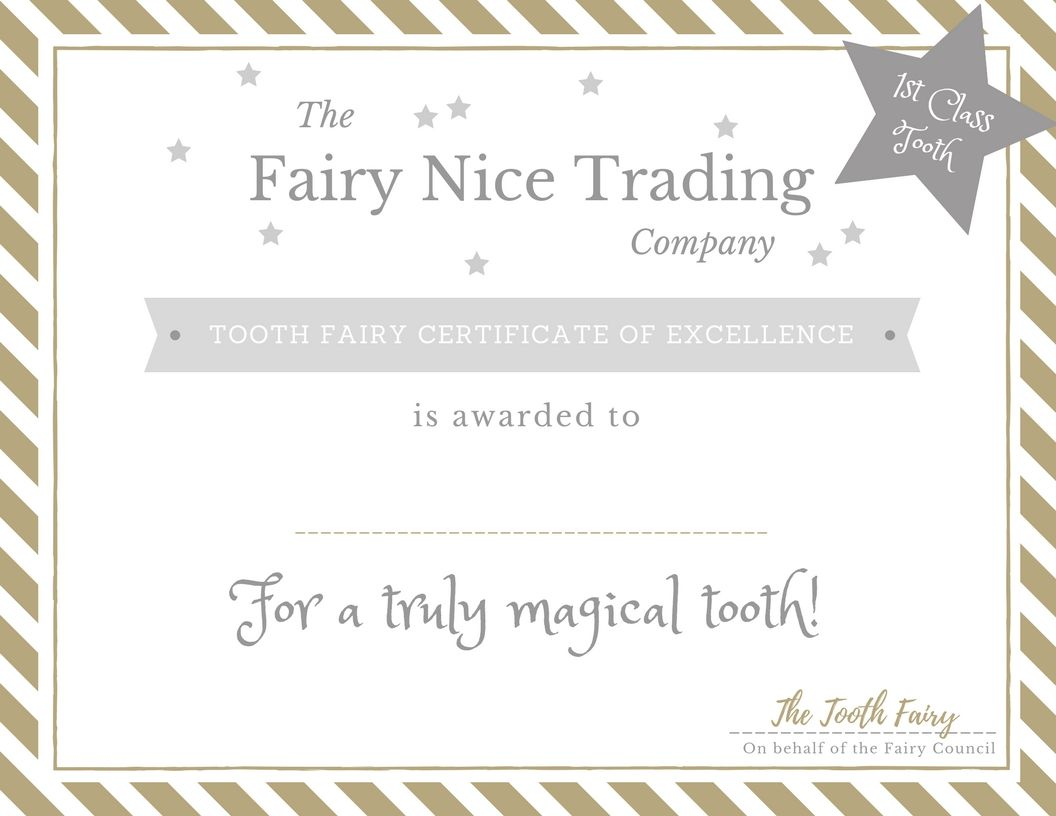 Free printable tooth fairy certificate and other tooth fairy free printable tooth fairy certificate and other tooth fairy goodies xflitez Choice Image