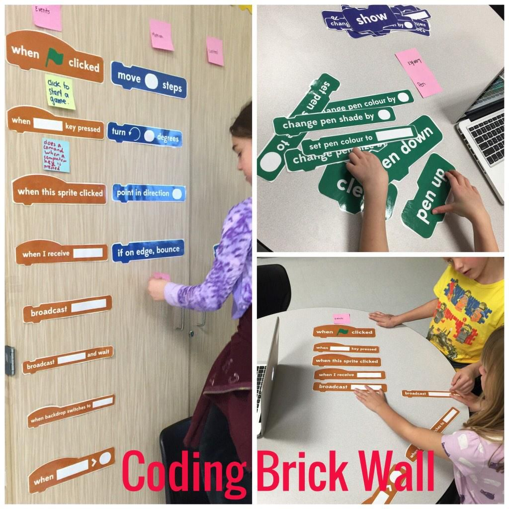 Learn Coding Vocabulary with student collaboration! Build a Coding brick wall - found on Scratch Website #scratch #ADEchat? (via Twitter)