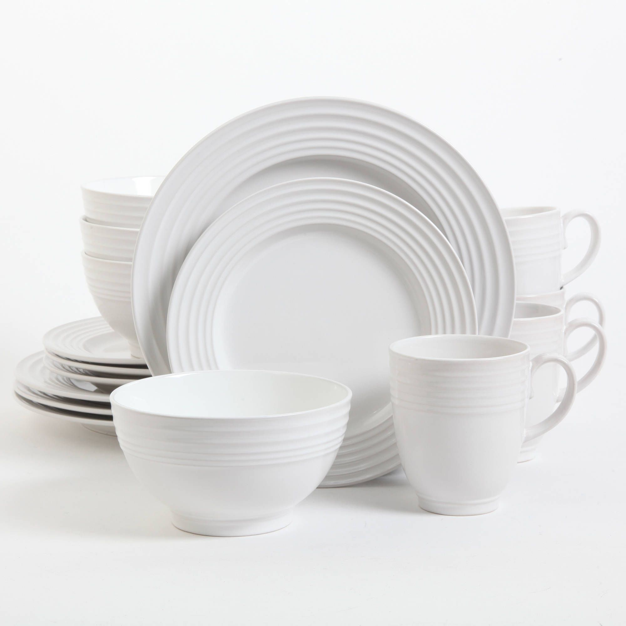 The Gibson Home Stanza 16-Piece Dinnerware Set will help you set the table with style. These elegant dishes offer the perfect way to make everyday meals ... & The Gibson Home Stanza 16-Piece Dinnerware Set will help you set the ...
