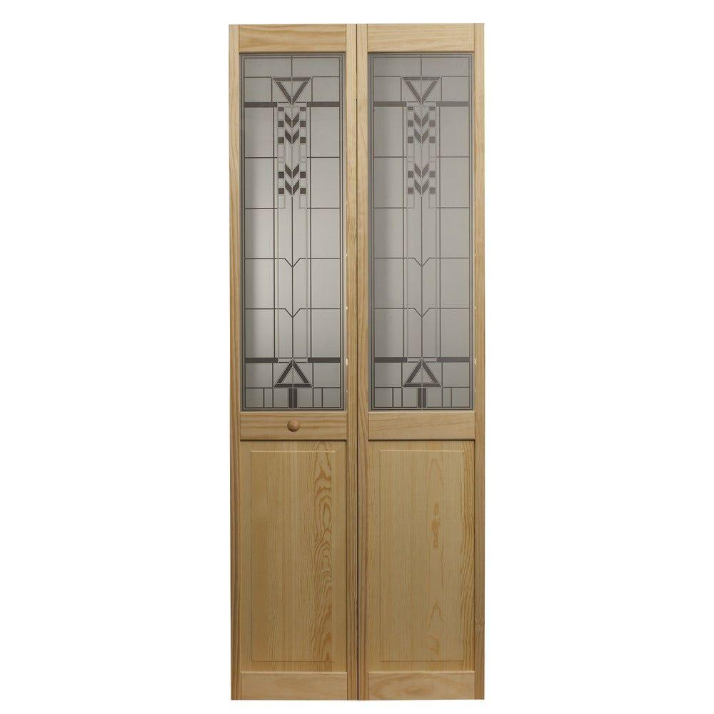 Awc 147 Sedona Glass 30 Inch X 80 5 Inch Unfinished Bifold Door In 2020 Bifold Doors Bifold Door Hardware Glass Bifold Doors
