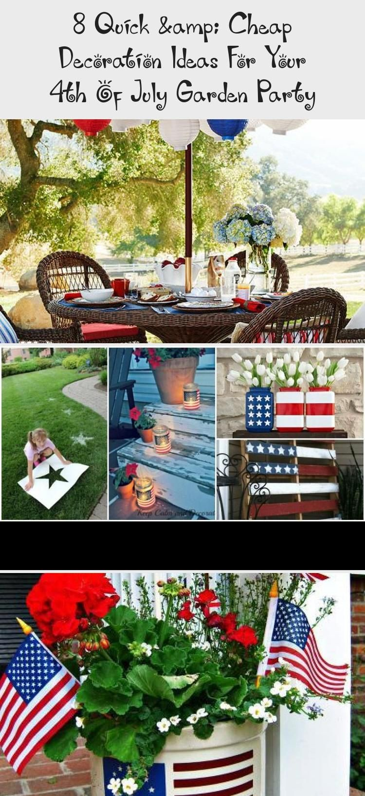 8 Quick Cheap Decoration Ideas For Your 4th Of July Garden Party Garden Decor Summerdecorstringlights Summerdeco Cheap Decor Summer Decor Homemade Stencils