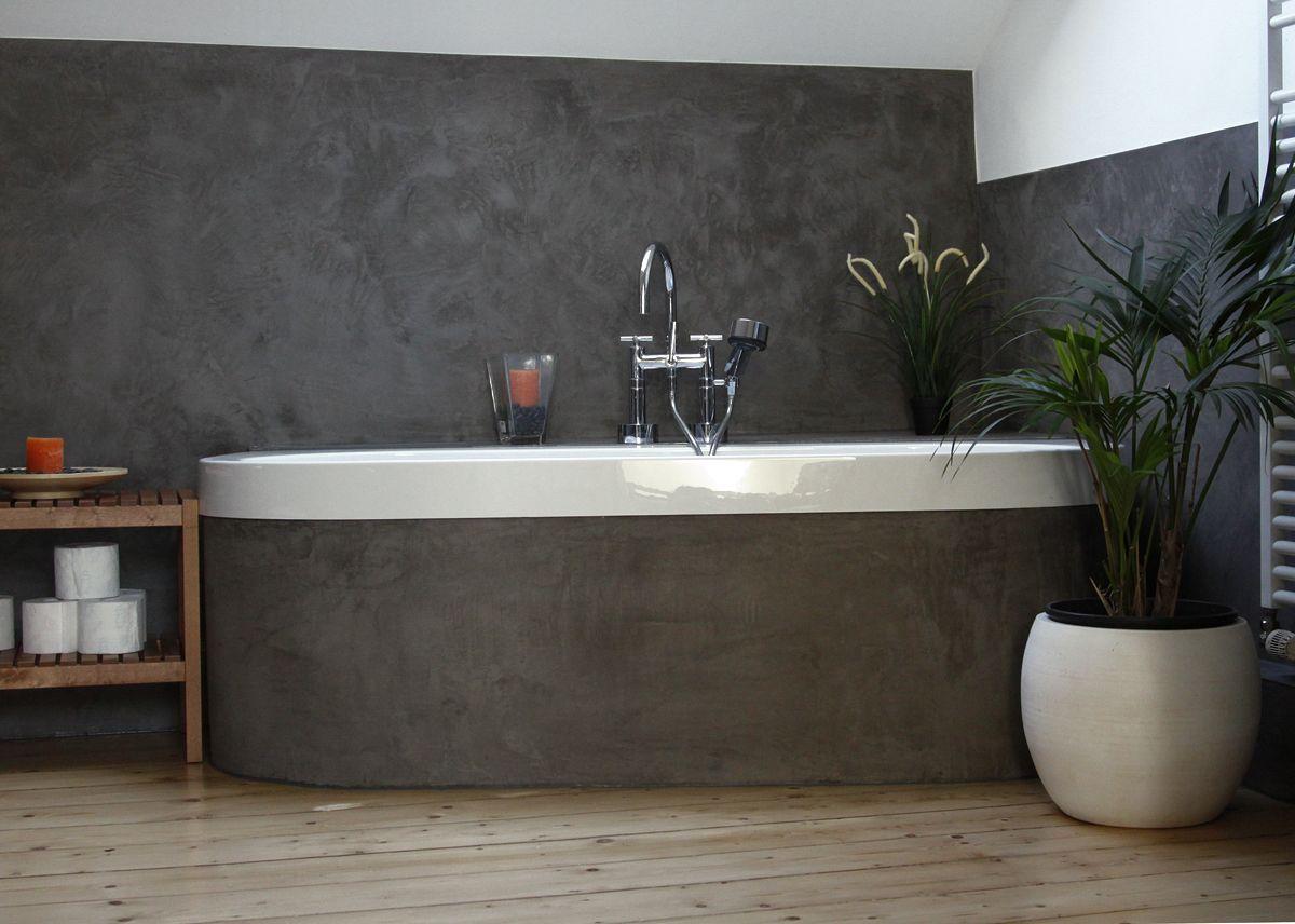 Cool Ein Bad in Kalkputz Betonlook