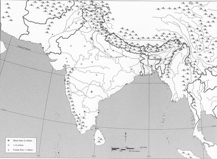 Blank South Asia Map WordPress.| Asia map, South asia map, Ancient india