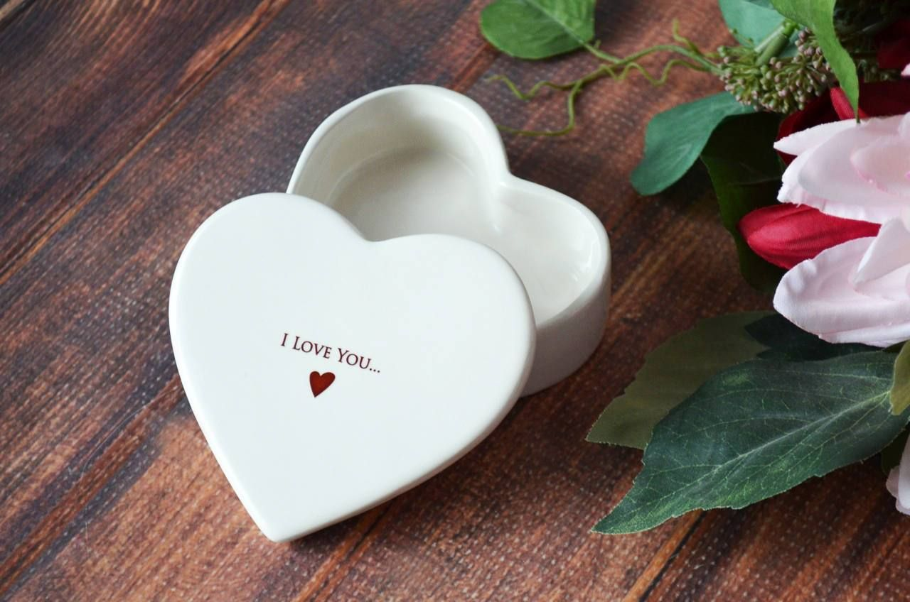 Valentine's Day Gift – I Love You More – SHIPS FAST – Heart Keepsake Box – With Gift Box – As Shown