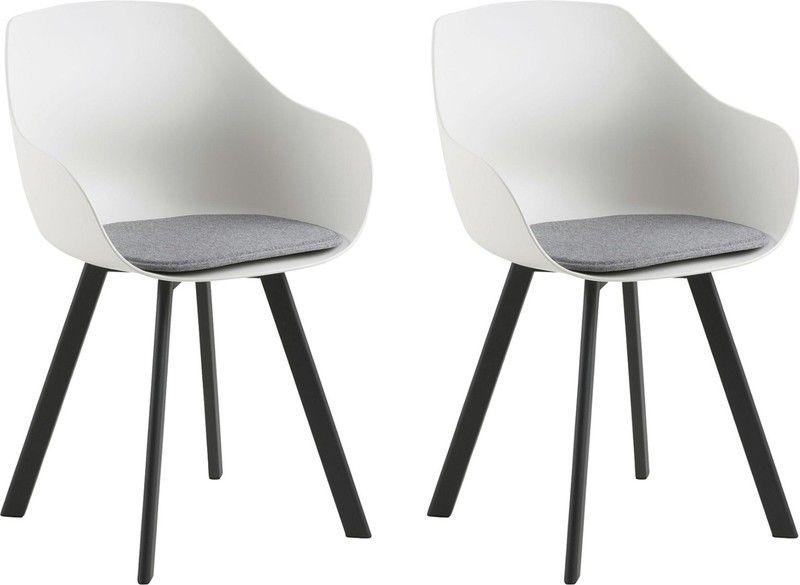 Witte Kunststof Design Stoelen.24designs Jaylin Stoel Set Van 2 Wit Kunststof Zwarte Poten
