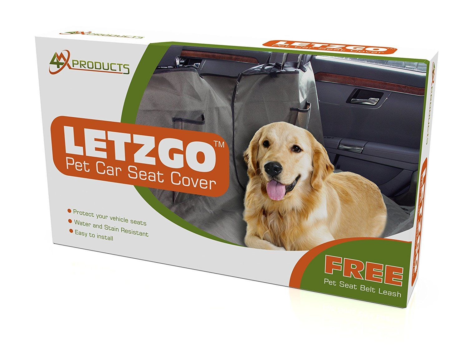 Pet car seat covers free gift for dogs large size fits