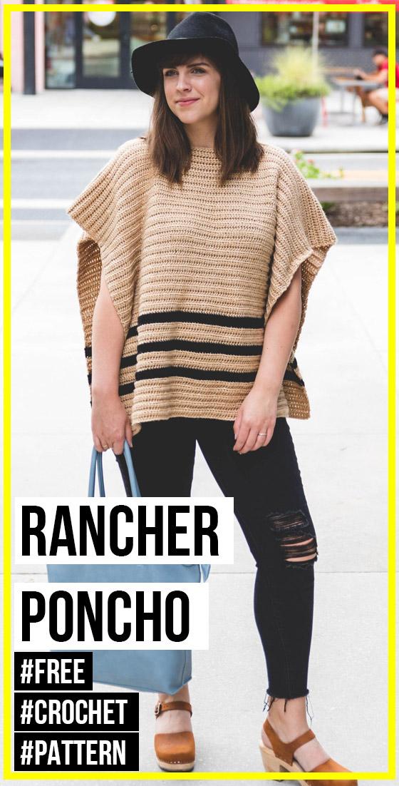 Photo of Crochet Rancher Poncho free pattern