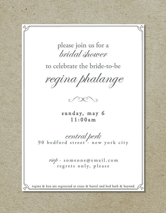 classic bridal shower invitation via bright designs on etsy elegant bridal shower bridal showers