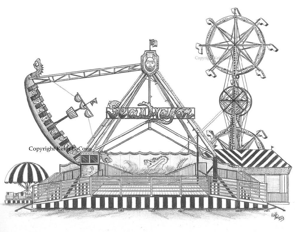 Karakalem Sihir Perisi Ferris, Ferris wheel, Travel