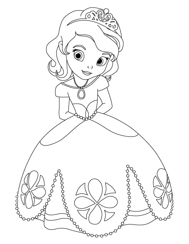Sofia The First Disney Princess Coloring Pages Sofia The First