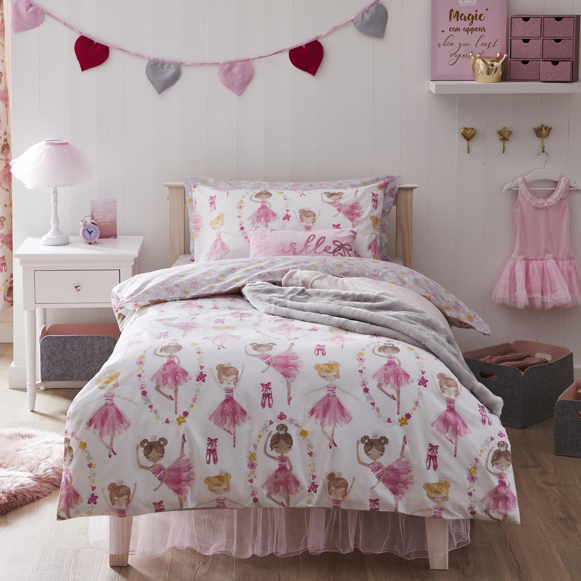 Ballet Duvet Cover and Pillowcase Set in 8  Kids bedding sets