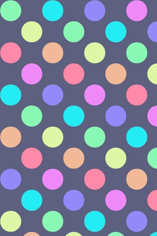 Polka dot wallpaper for iPhone or Android. Tags: polka dots, polkadot,  design