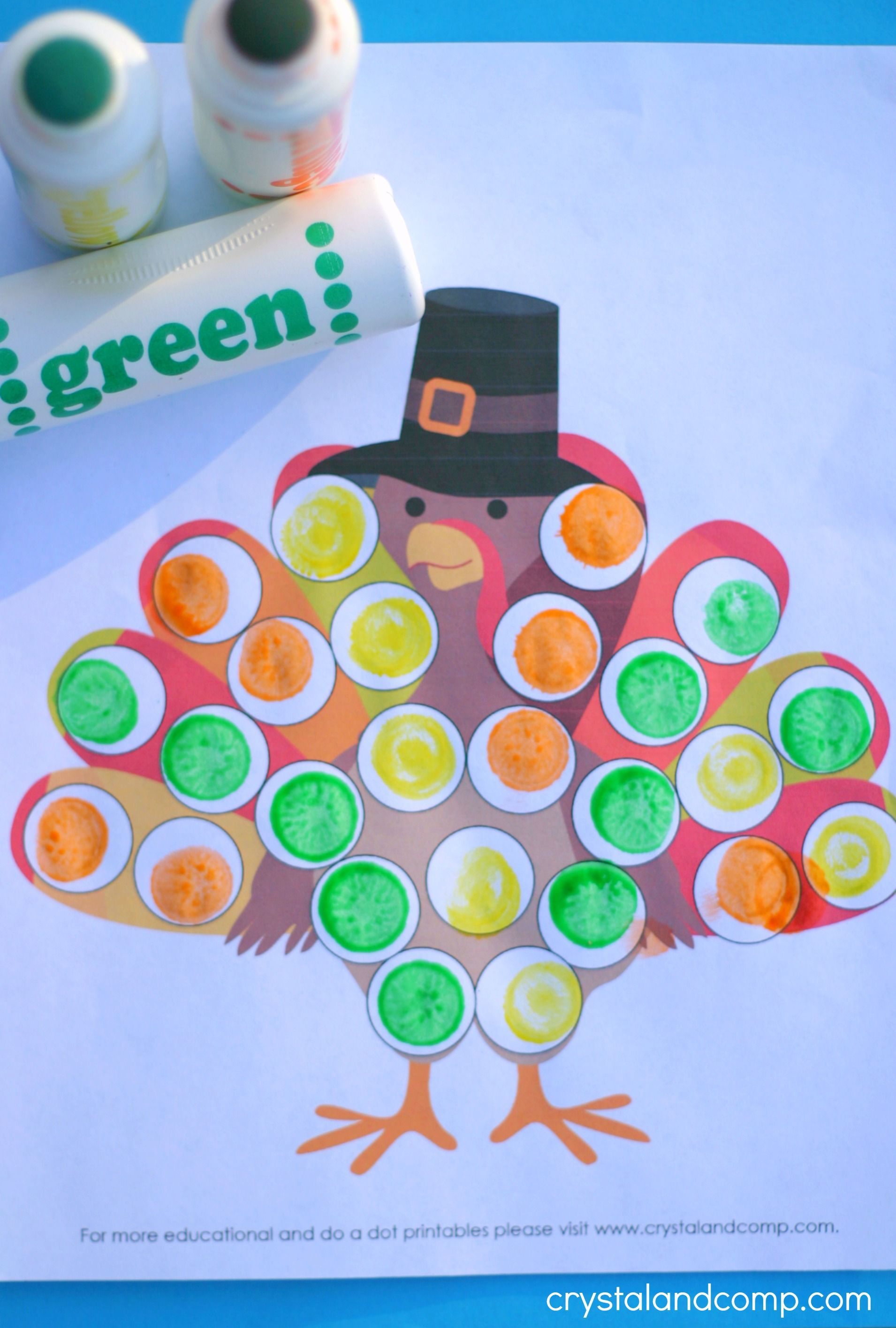Turkey Do A Dot Printables For Preschoolers