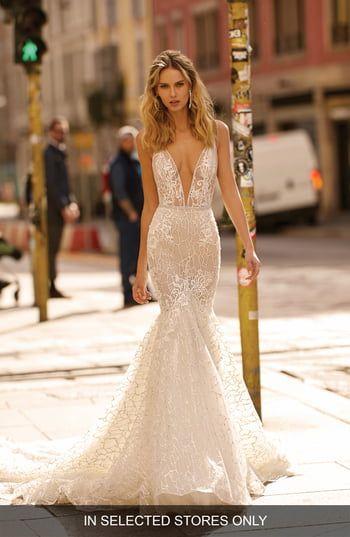 New Berta Plunge Mermaid Wedding Dress online shopping - Showmetopstyle