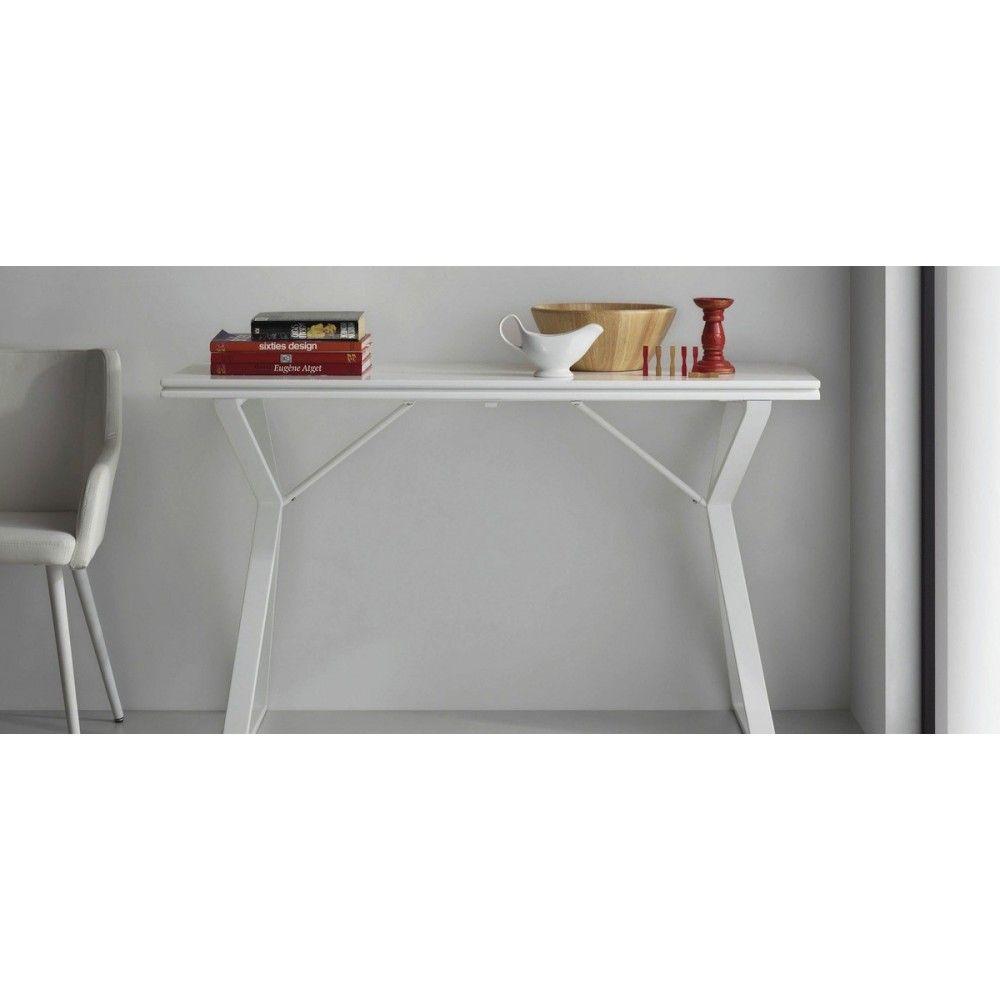 Table Console Extensible Design Atik Consoles And Console - Console extensible laquee blanc pour idees de deco de cuisine