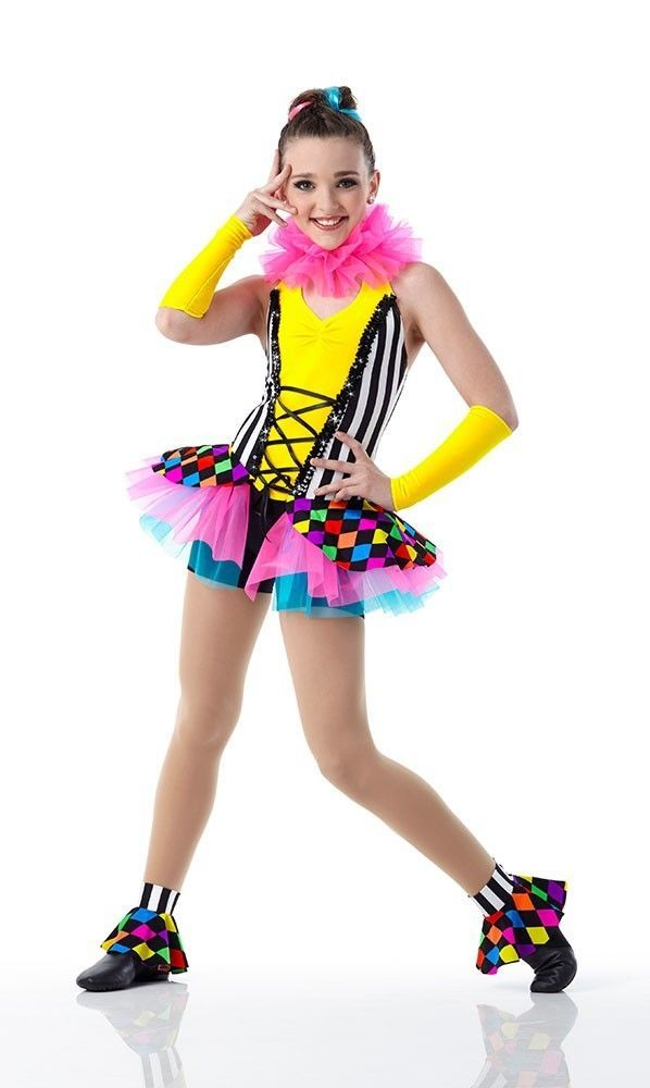 FUNHOUSE Dancewear Jester Clown Unitard Jazz Tap Dance Costume Child U0026  Adult Sz #Cicci