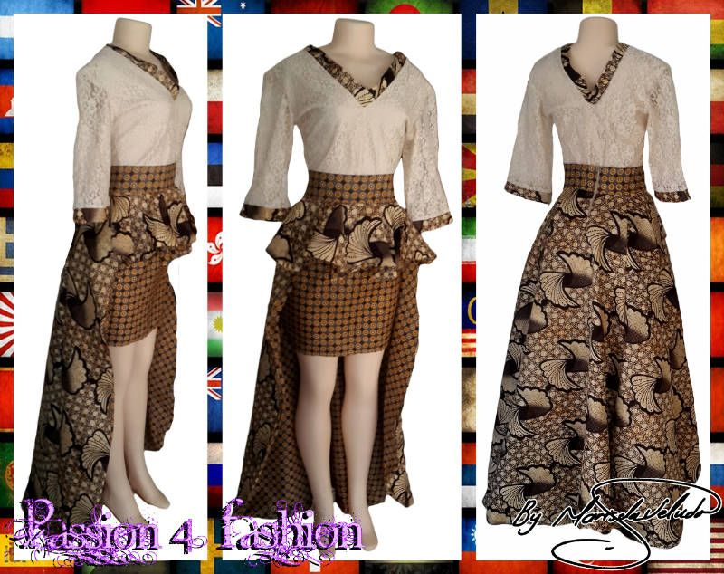 Hi Lo Modern Traditional Skirt With A Peplum Effect And A Lace Top With Sleeves For A Traditional Wedding Guest