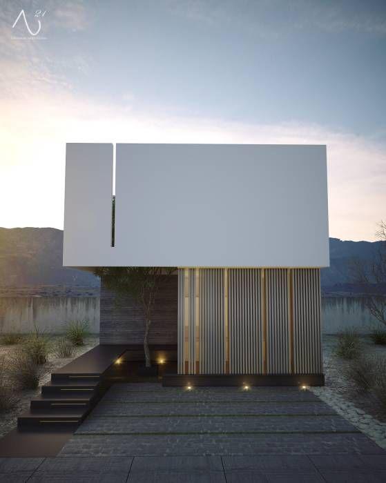 Fotos de casas de estilo minimalista vista principal - Casas de diseno minimalista ...
