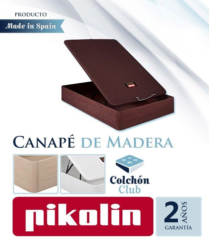 Canapé de Madera Pikolin modelo 3D Transpirable con Tapa Rígida Ref P51100