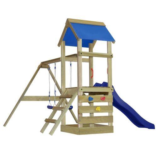 Children #garden climbing #frame kids play tower slide swings ...