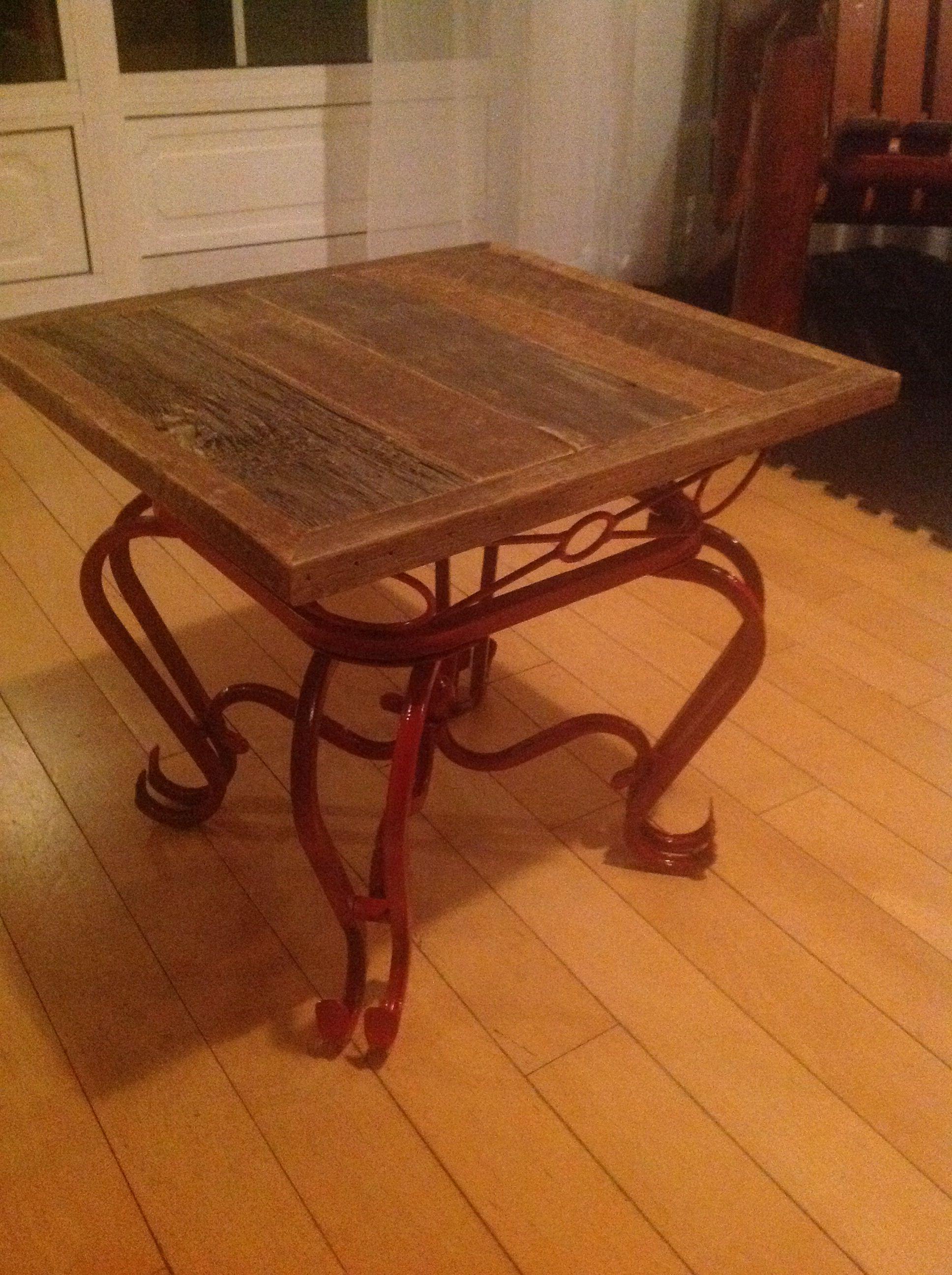 Super Table Basse Bois De Grange Vernis Mat Desrochers Du Bois