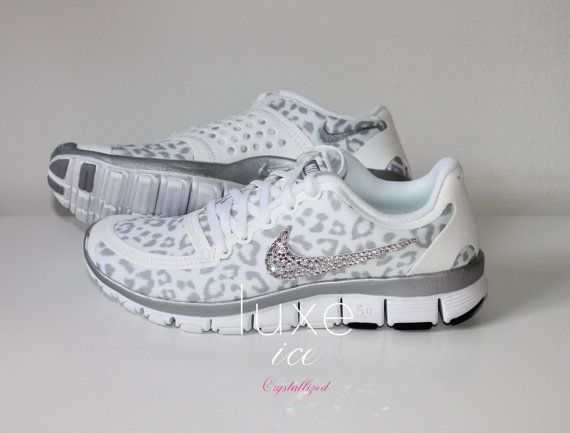 nike free runs 5.0 white cheetah cub
