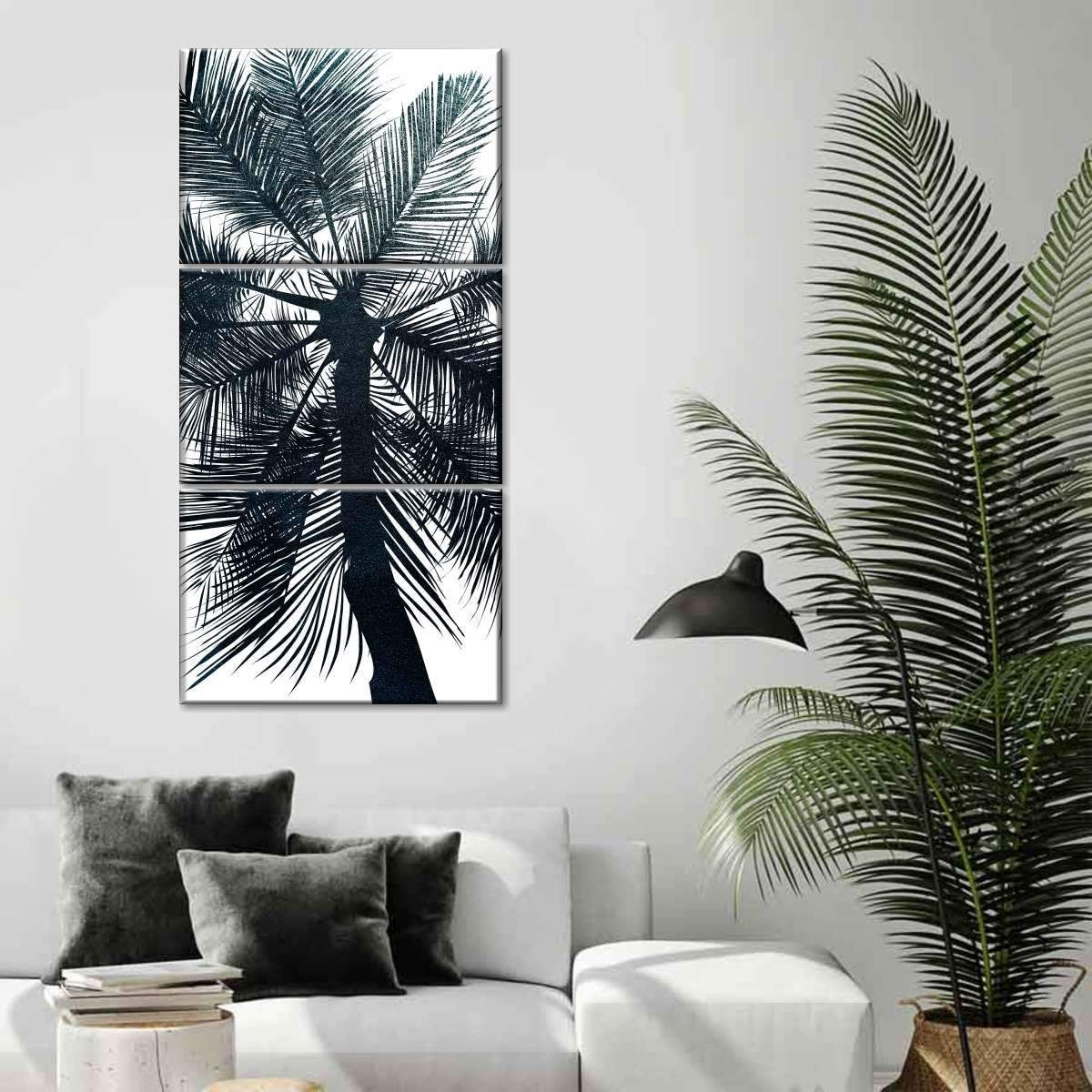 Leaves Shadow Canvas Painting Home Living Room Picture Poster Wall Decor Novelty