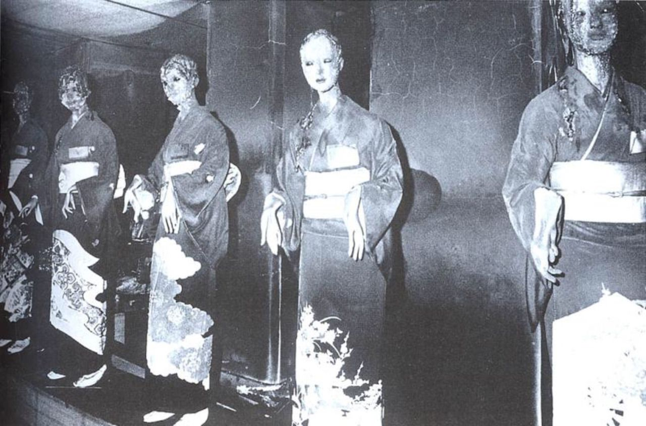 Mannequins burnt in the Sennichi department store building
