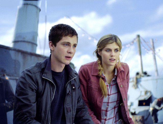 Logan Lerman And Alexandra Daddario Percy And Annabeth In Percy