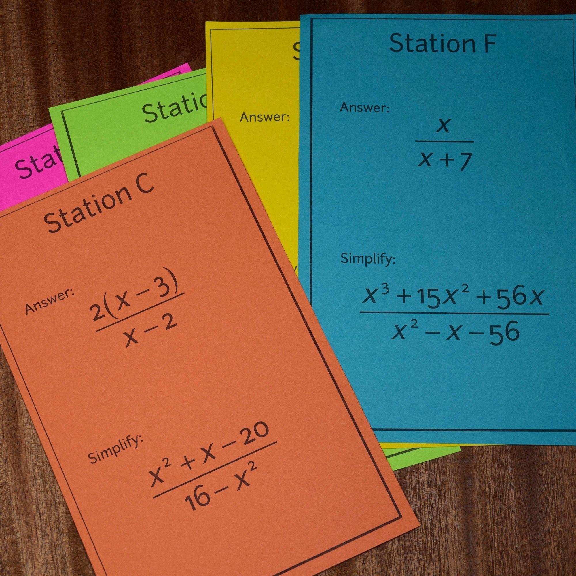 Rational Expressions Scavenger Hunt – Simplifying Rational Expressions Worksheet Algebra 2