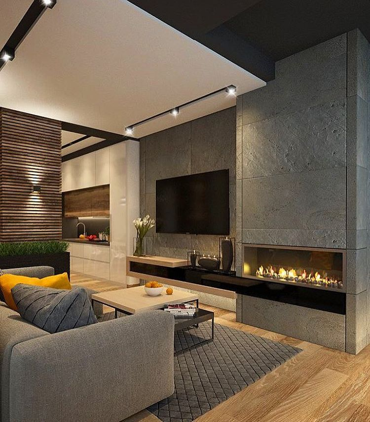 beautiful cozy open space with fireplace by katya baryshnikova beautiful home interior interior design inspirationhome