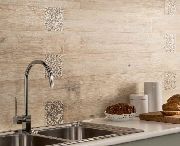 wandfliesen holzoptik dekorativ küchenrückwand alternative - alternative zu fliesen in der küche
