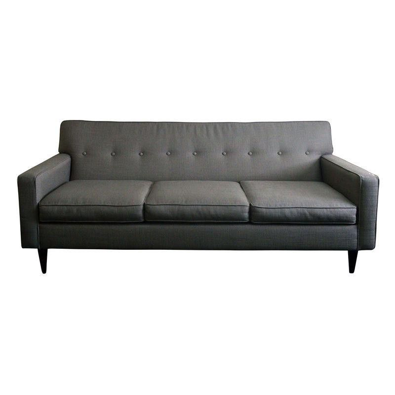 Mid-Century Modern Style Sofa in Grey - $899 Est. Retail - $499 on Chairish.com