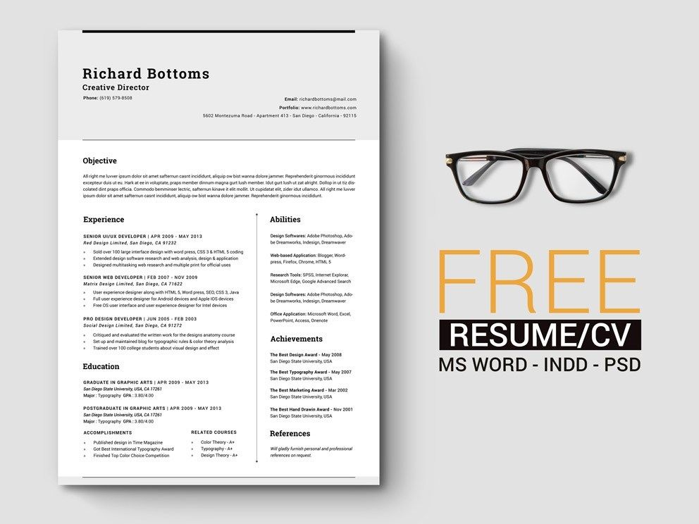 Inspiring Cv Template Indesign Pictures timeless best