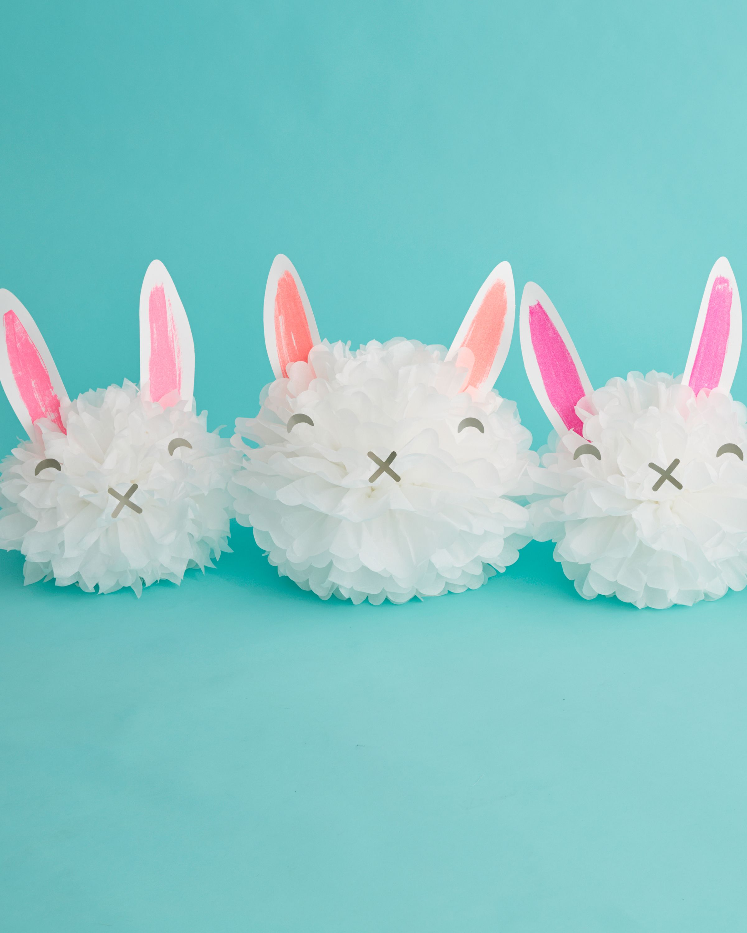 Craft this adorable Easter decor in minutes with neon glitter and pom-poms from Martha Stewart Crafts.