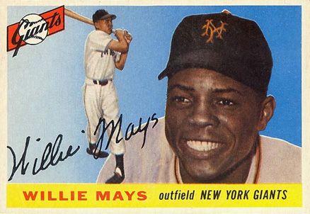 1955 Topps Willie Mays 194 Baseball Card Value Price Guide Willie Mays Baseball Card Values Baseball Cards