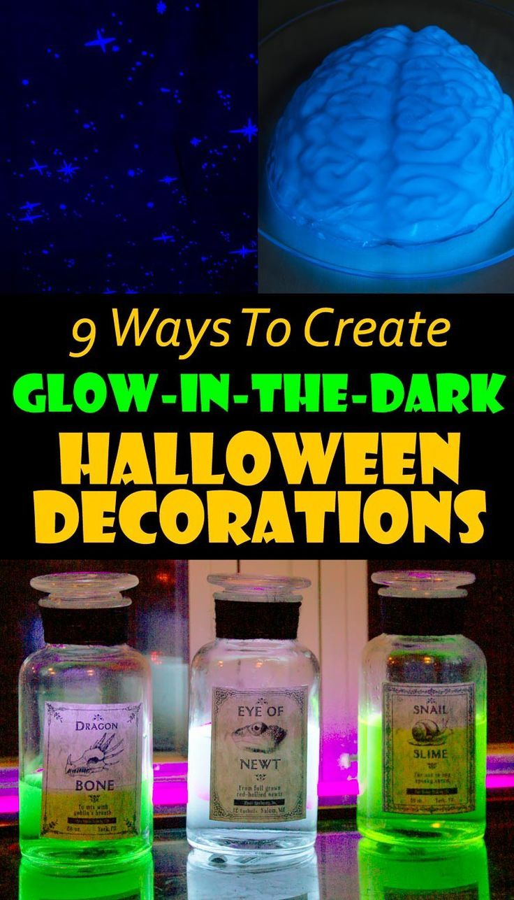 10 Awesome Glow In The Dark Party Ideas For Halloween Glow Halloween Halloween Entertaining Halloween Decorations