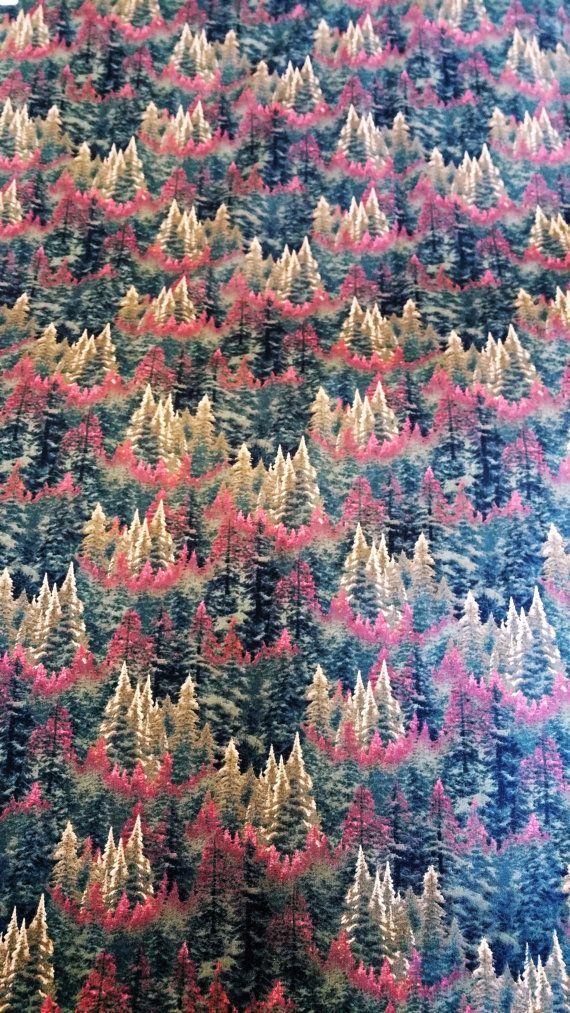David Textiles THOMAS KINKADE Autumn Forest by ZoeAnnesEtc on Etsy