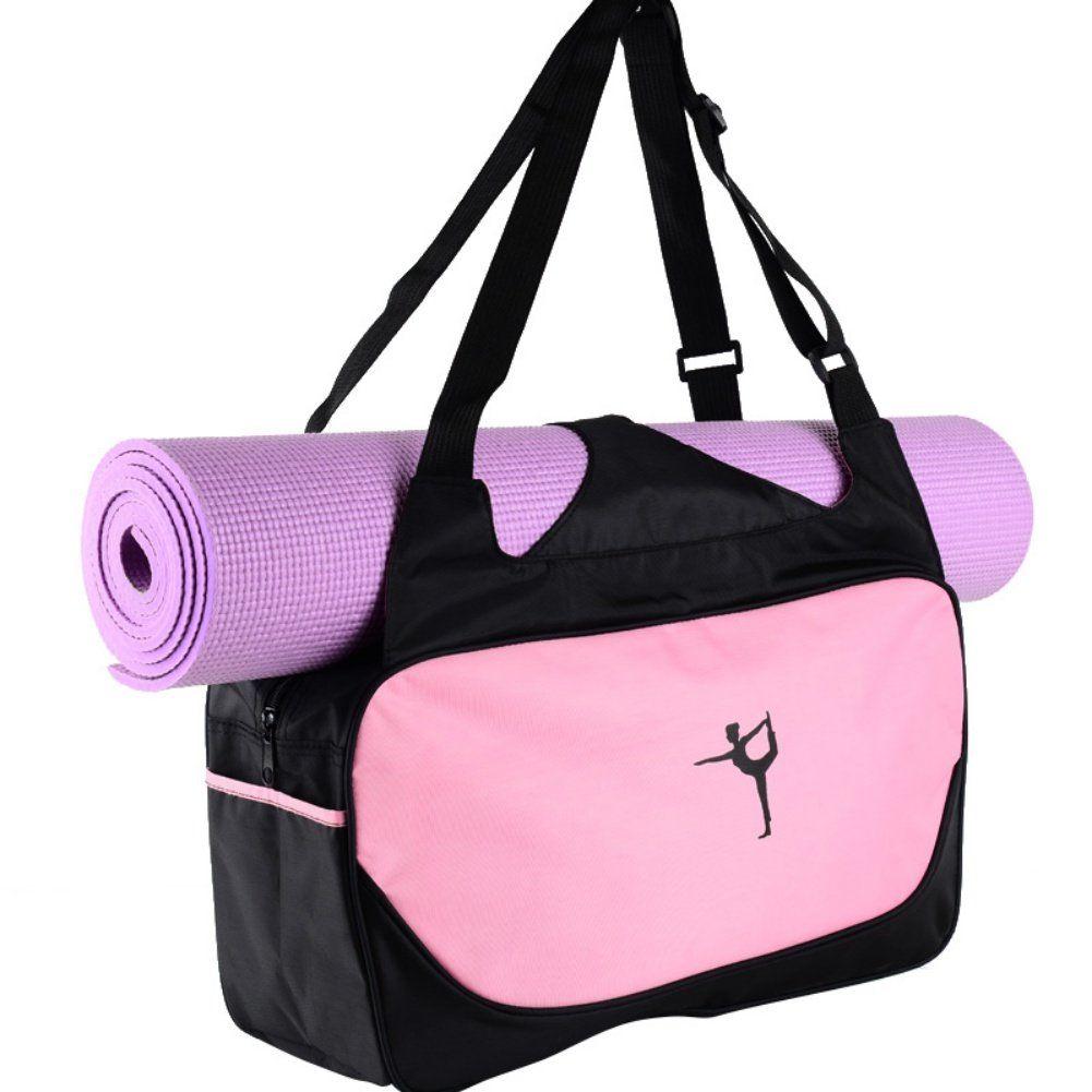 Yesido Multifunctional Yoga Mat Tote Bags Lightweight Yoga Bag Durable Gym Bag High Capacity Sports Bag Pilates Yoga Sh Womens Gym Bag Sports Bags Gym Yoga Bag